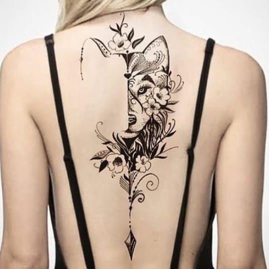 tattoo para mujer espalda animal