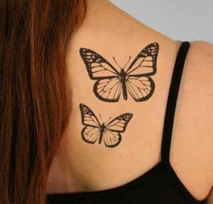 tatuajes femeninos de mariposas