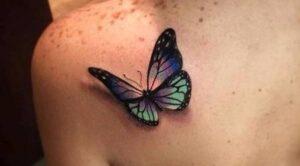 tatuajes femenino mariposa