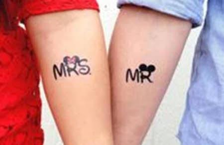 tatuajes para dos señor y señora de
