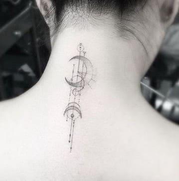 tatuajes para mujer en la nuca originales