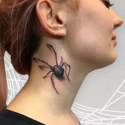 tatuajes para mujer en la nuca rockeros