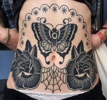 tatuajes-en-el-abdomen-para-mujer